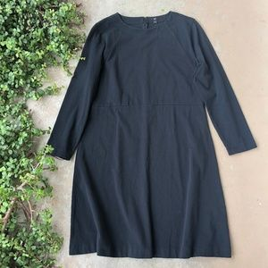 J Crew 365 Black Long Sleeve Dress